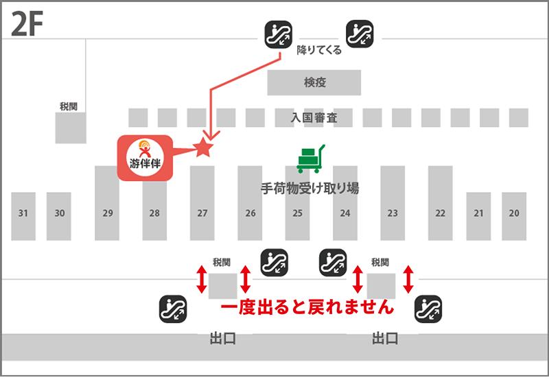 中国 - 上海浦東国際空港 ターミナル2 WIFI 到着ゲート受取